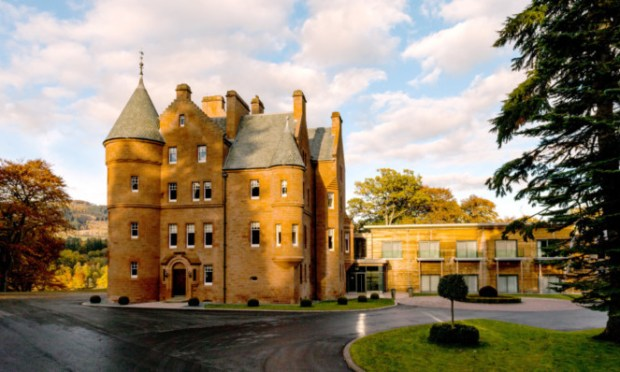 Fonab Castle took third place in the UK luxury category.