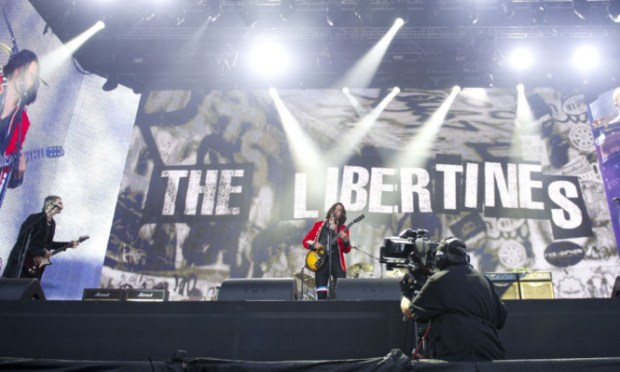 The Libertines performing at the Barclaycard British Summer Time Festival in Hyde Park, London. PRESS ASSOCIATION Photo. Picture date: Saturday July 5, 2014. See PA story  . Photo credit should read: Laura Lean/PA Wire