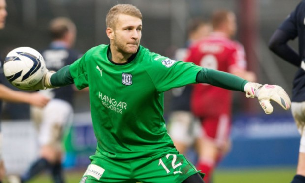 Scott Bain in action for Dundee.