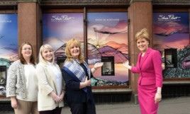 First Minister Nicola Sturgeon was impressed with Gina Ramsey's work.