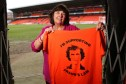 Amanda Kopel with her Frank's Law t-shirt