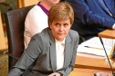Nicola Sturgeon at First Minister's Question in the Scottish Parliament,