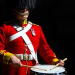 Tuning up with the Leuchars-based Pipes and Drums of the Royal Scots Dragoon Guards
