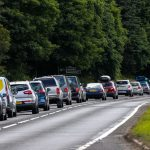 Delays on A9 after two car crash