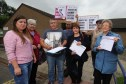 Members of Invest In Lochee Health Centre during a recent protest.