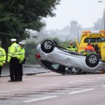 Video: Man escapes serious injury after car overturns in Dundee collision
