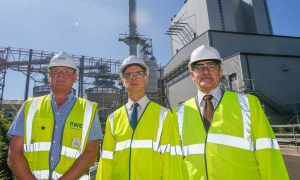 Tim Mitchell, RWE, Councillor John Wincott and Iain Shirlaw, Fife Council's economic adviser (investment).