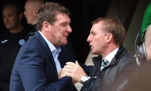 Tommy Wright with Brendan Rodgers.