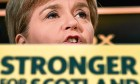 Nicola Sturgeon, delivers a speech to SNP party members at the launch of a listening exercise to gauge support for a second referendum.