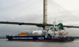 The first tanker of US shale gas arriving in the Forth