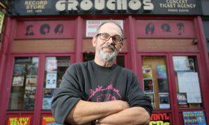 Alastair 'Breeks' Brodie outside Grouchos
