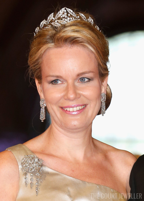 29 Apr 2013: The Duchess of Brabant wears the Laurel Wreath Tiara at the Rijksmuseum in Amsterdam