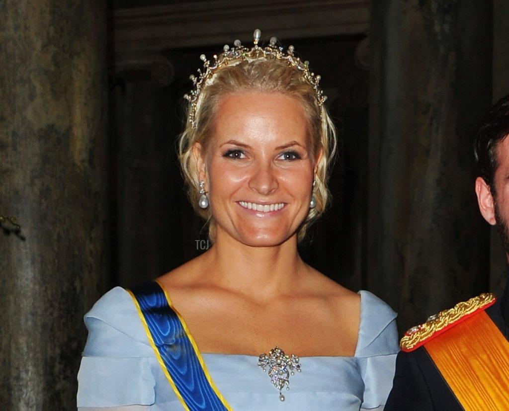 Crown Princess Mette-Marit at the Swedish royal wedding, 2010
