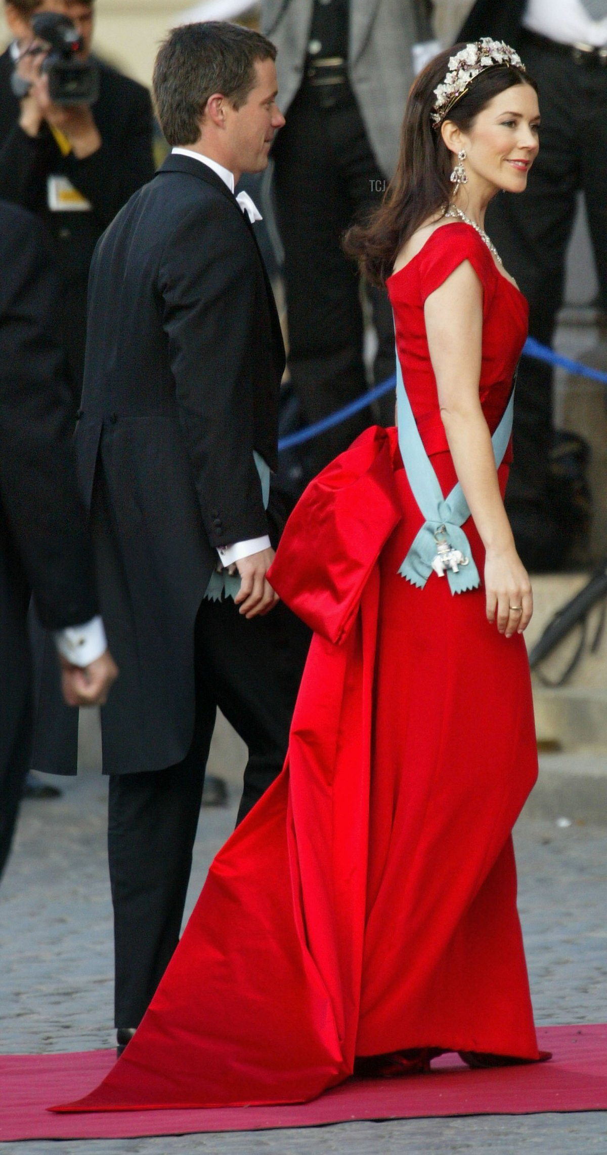 Crown Princess Mary of Denmark at her pre-wedding gala, May 2004