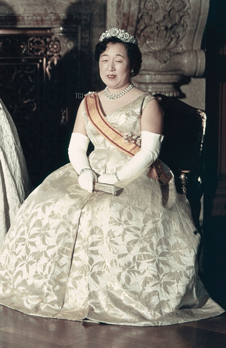 Empress Nagako during the imperial wedding celebrations in Japan, 1959