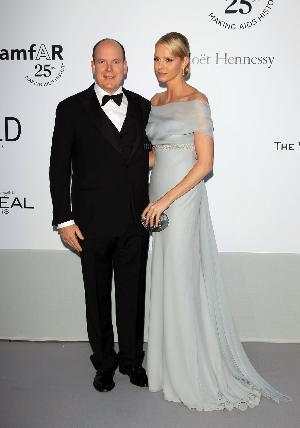 Prince Albert II of Monaco and Charlene Wittstock attend amfAR's Cinema Against AIDS Gala during the 64th Annual Cannes Film Festival at Hotel Du Cap on May 19, 2011 in Antibes