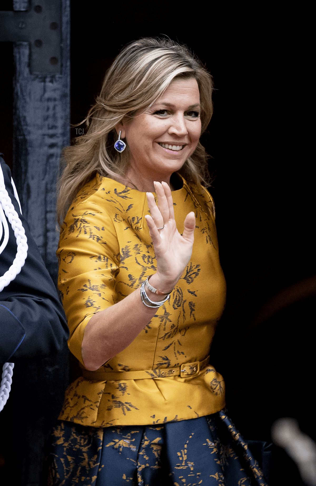 Queen Maxima of The Netherlands arrives at the Royal Palace for the new year reception for the Diplomatic Corps on January 15, 2020 in Amsterdam