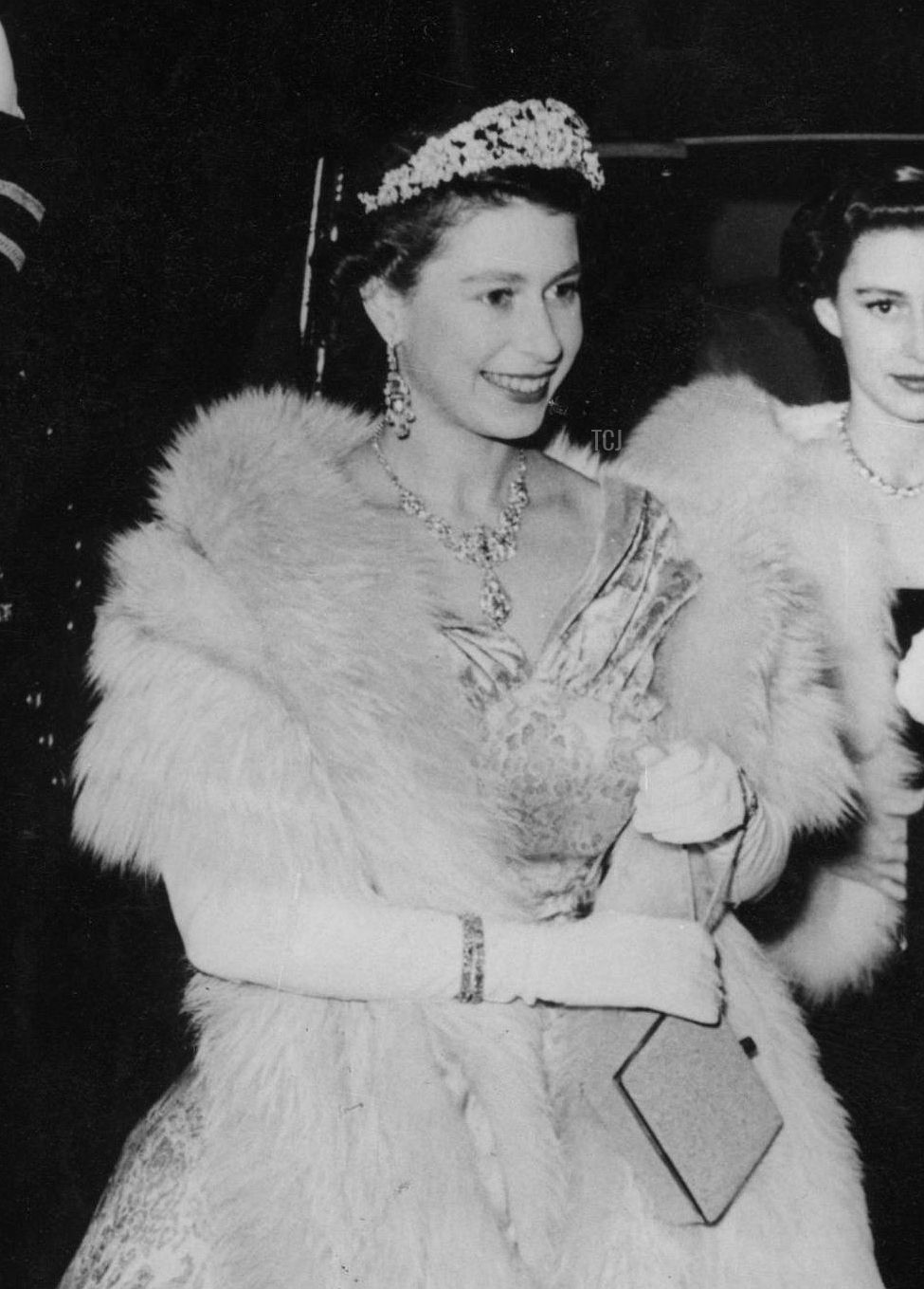 Queen Elizabeth II attends the Royal Variety Performance at the Palladium in London, November 1952