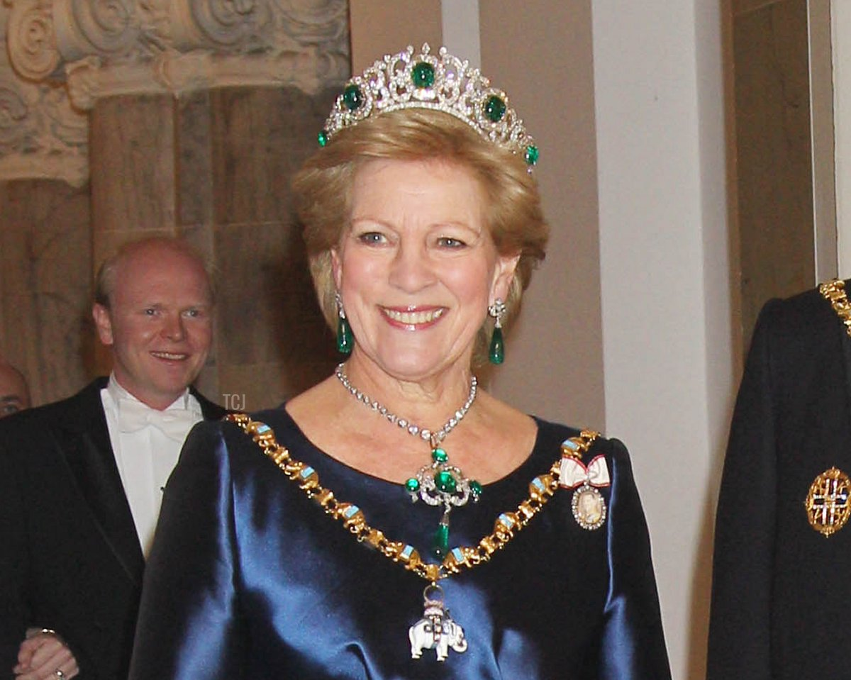 Anne-Marie of Greece attends a Gala Dinner to celebrate Queen Margrethe II of Denmark's 40 years on the throne at Christiansborg Palace Chapel on January 15, 2012