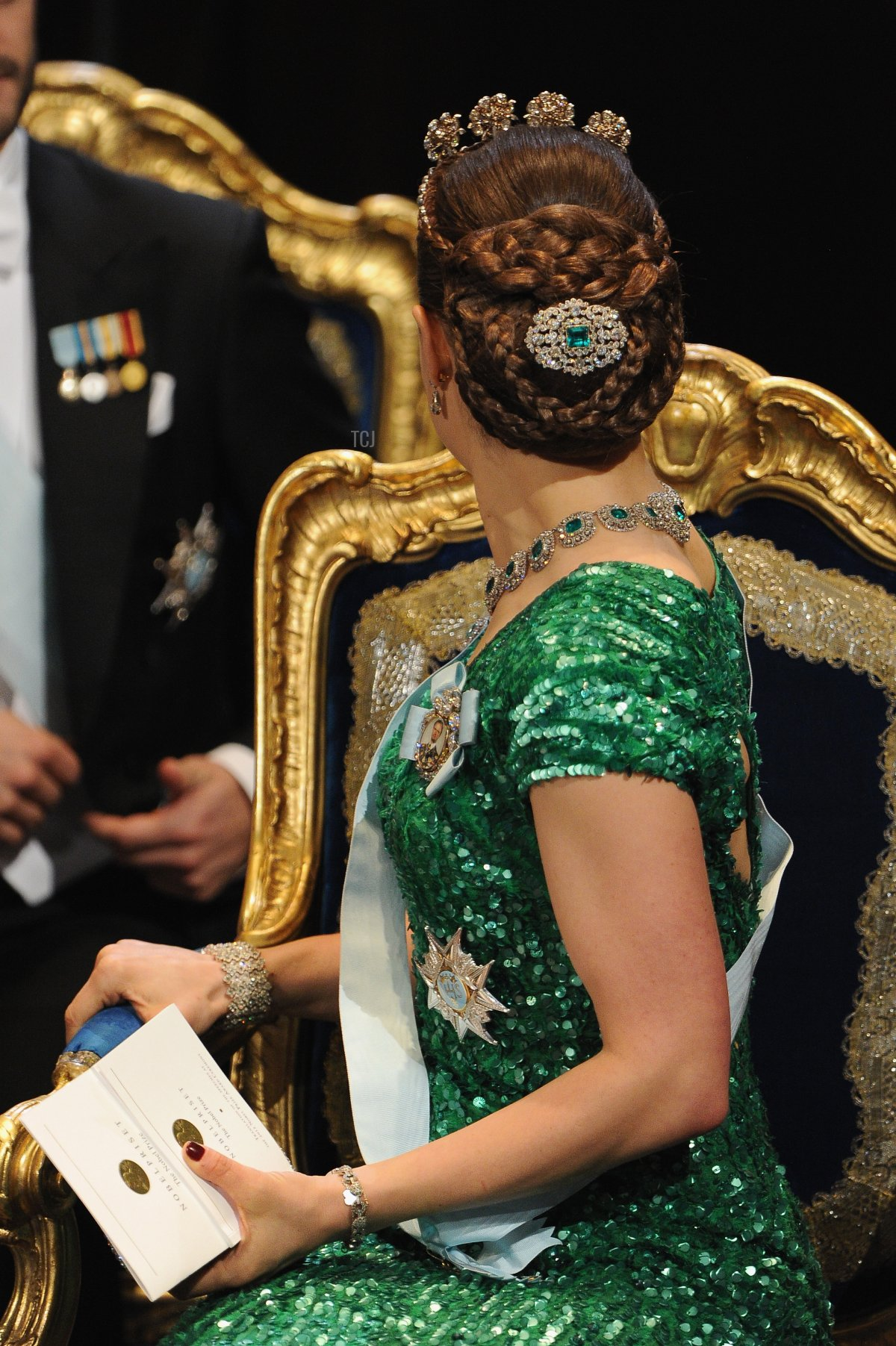 Crown Princess Victoria of Sweden attends the 2012 Nobel Prize Award Ceremony at Concert Hall on December 10, 2012 in Stockholm