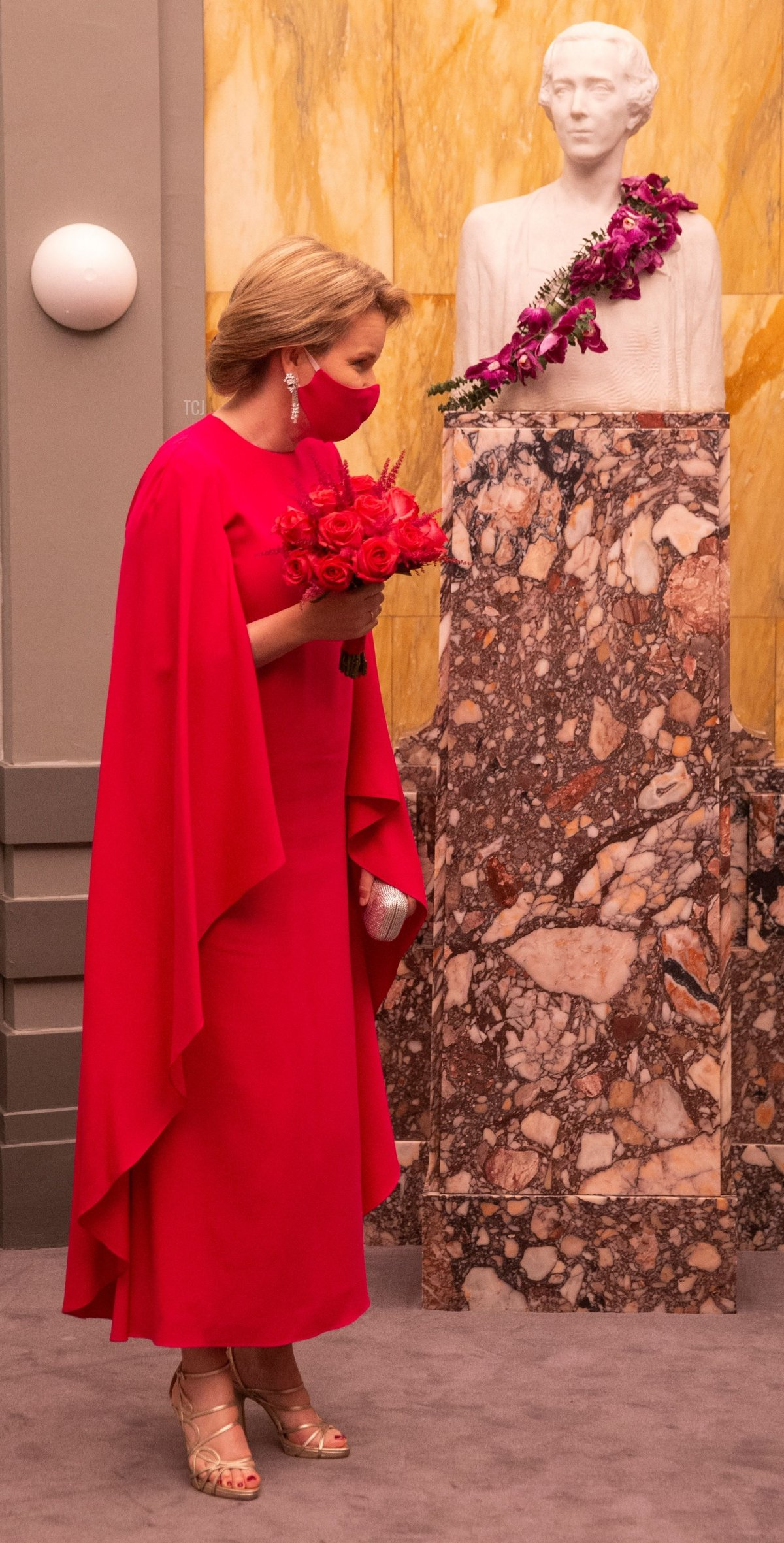 Queen Mathilde of the Belgians pictured during the proclamation of the Queen Elisabeth Piano Competition 2021, at the Henry Le Boeuf Hall of the Bozar Palais des Beaux Arts, in Brussels, Saturday 29 May 2021