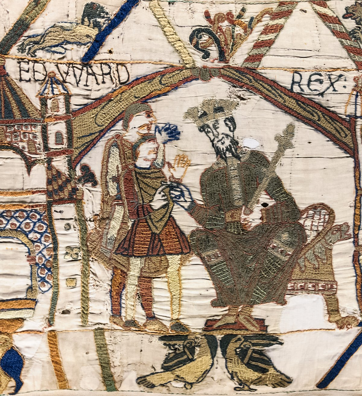 Bayeux Tapestry - Scene 1 : King Edward the Confessor and Harold Godwinson at Winchester