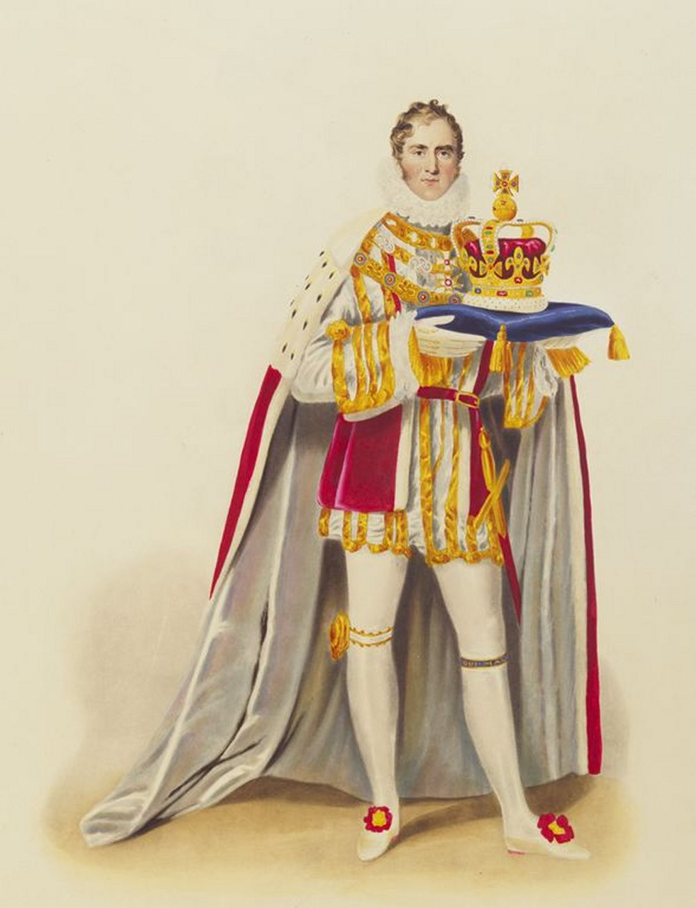 Marquess of Anglesey carrying St Edward's Crown at the coronation of King George IV, 1821