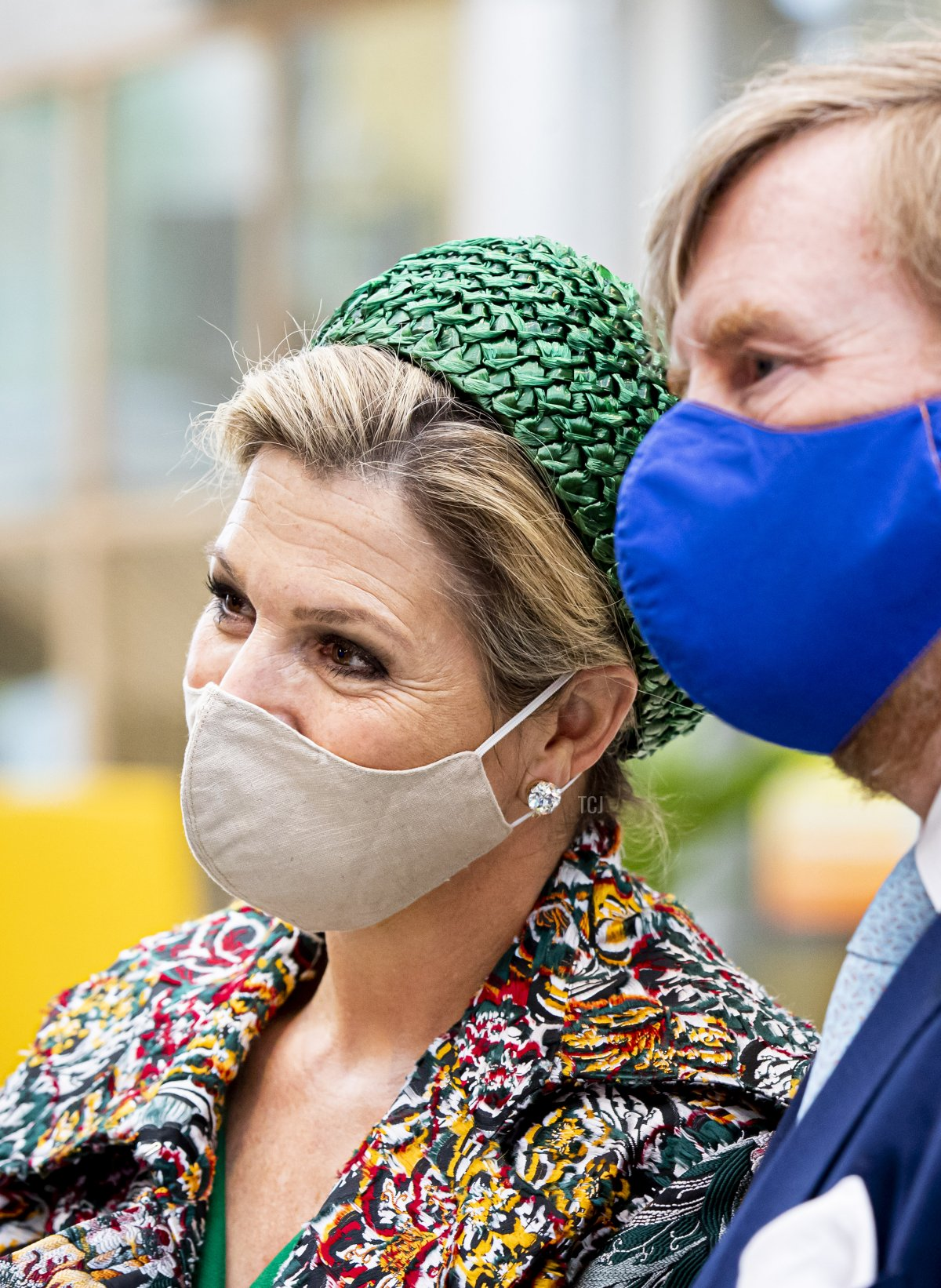 King Willem-Alexander of The Netherlands and Queen Maxima of The Netherlands visits Brightlands Campus Greenport during their region visit to North-Limburg on May 27, 2021 in Venlo, Netherlands