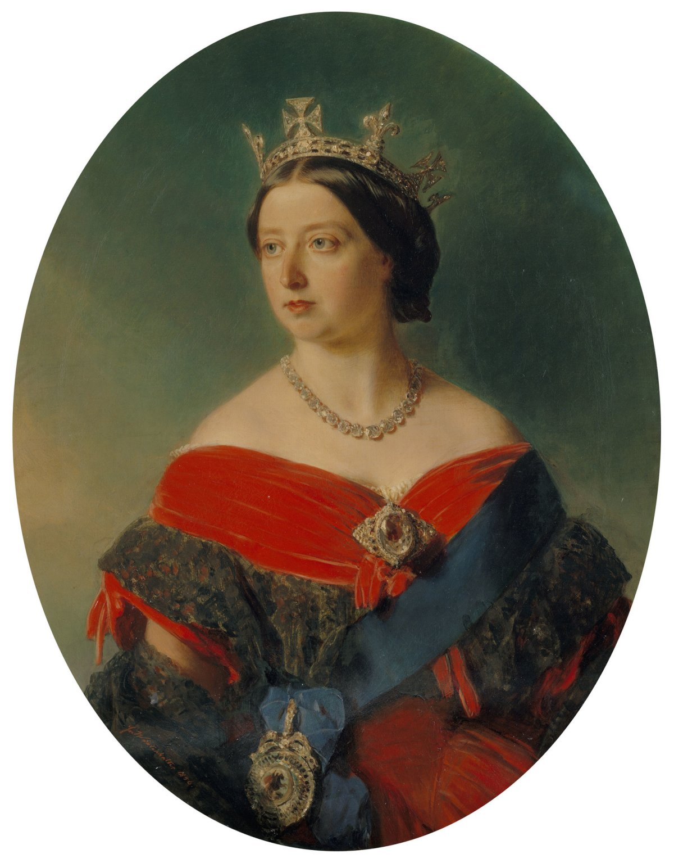 Winterhalter's 1856 portrait of Queen Victoria