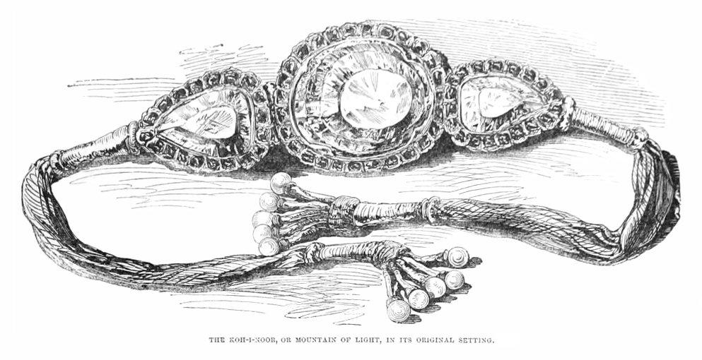 The Koh-i-Noor Diamond's armlet setting