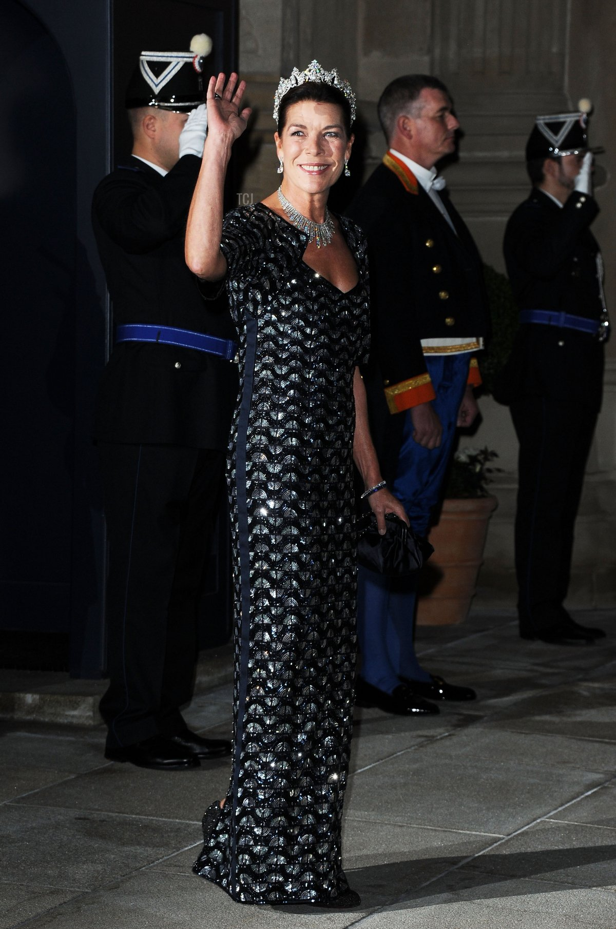 Princess Caroline of Hannover attends the Gala dinner for the wedding of Prince Guillaume Of Luxembourg and Stephanie de Lannoy at the Grand-ducal Palace on October 19, 2012 in Luxembourg, Luxembourg. The 30-year-old hereditary Grand Duke of Luxembourg is the last hereditary Prince in Europe to get married, marrying his 28-year old Belgian Countess bride in a lavish 2-day ceremony