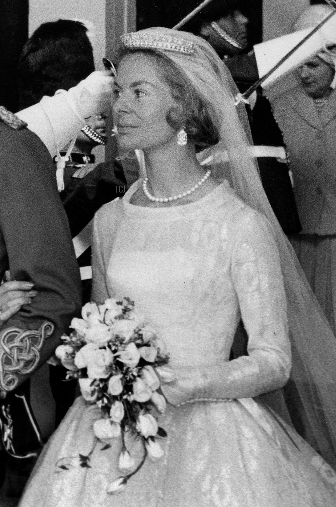 The Duke and Duchess of Kent after their wedding, June 1961