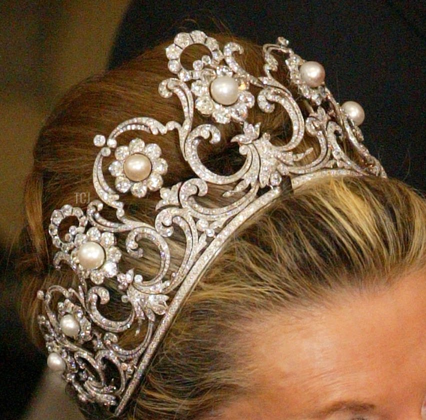 Princess Marina of Savoy attends the wedding of Danish Crown Prince Frederik and Mary Donaldson at Copenhagen Cathedral May 14, 2004 in Copenhagen, Denmark