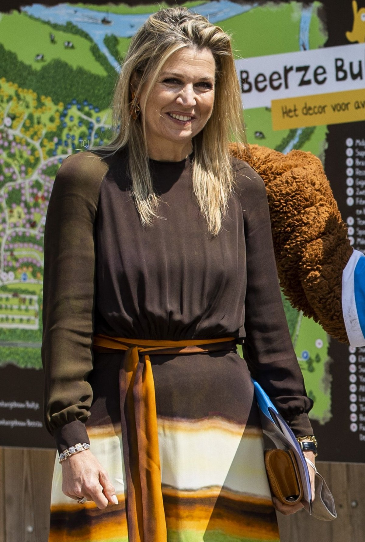 Queen Maxima (L) arrives at the Holiday Park Beerze Bulten during a visit to the Zwolle region on the theme of developments in the labor market, on June 8, 2021