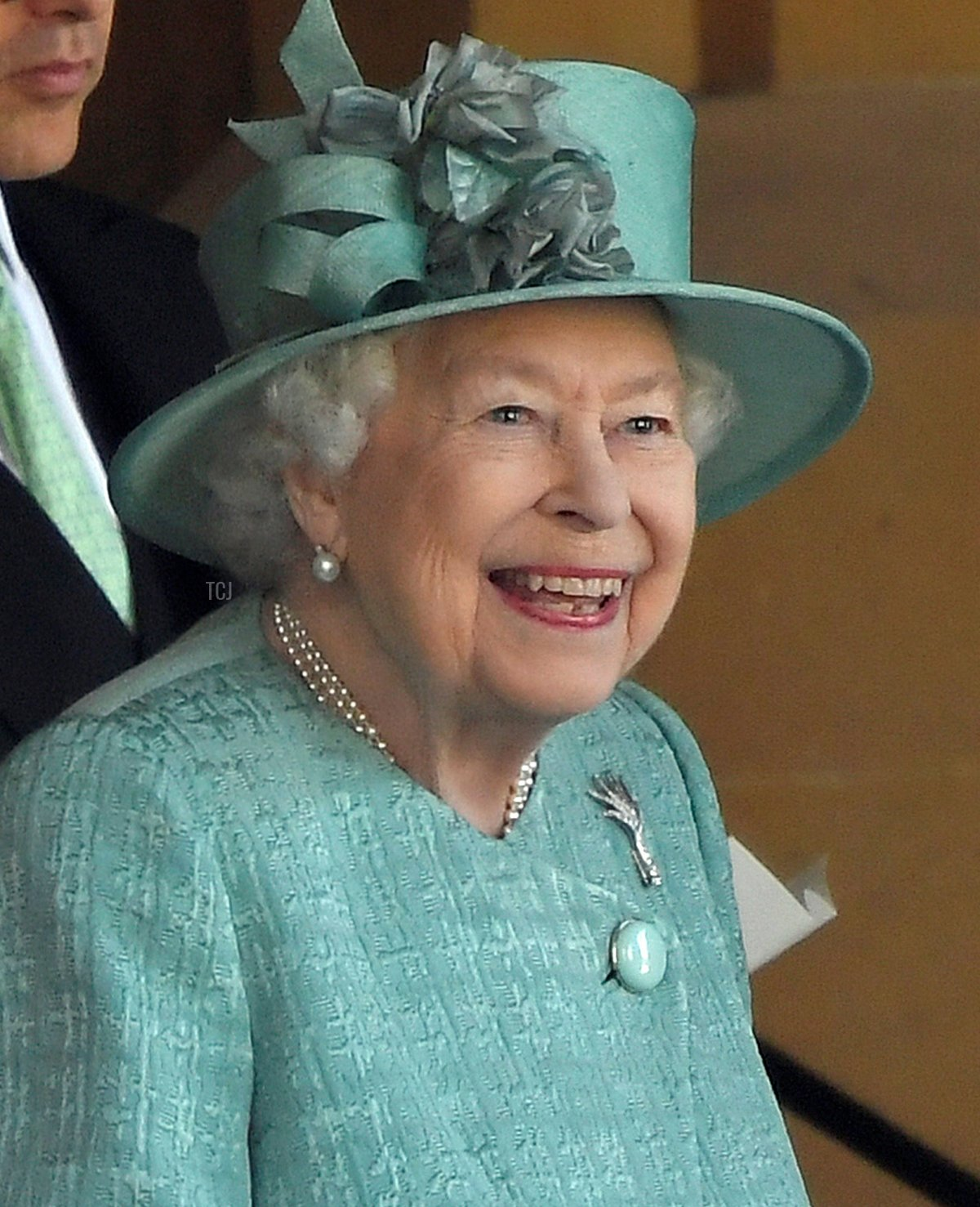 Queen Elizabeth II attends a ceremony to mark her official birthday at Windsor Castle on June 13, 2020 in Windsor, England