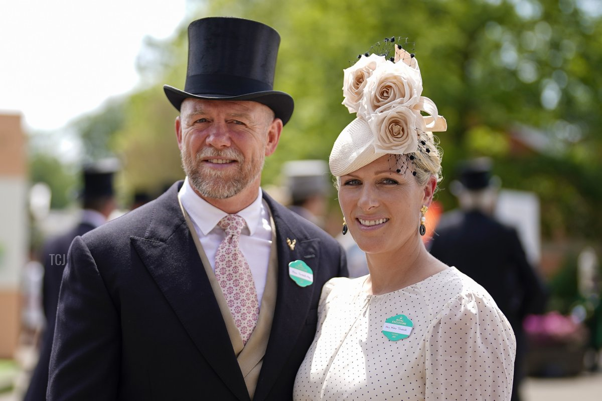 Zara Tindall arrives with husband Mike on day one of the Royal Ascot meeting at Ascot Racecourse on June 15, 2021 in Ascot, England