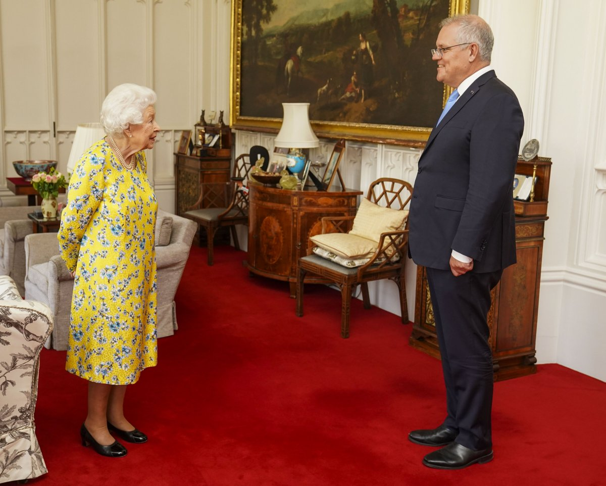 The Queen received The Prime Minister of Australia Scott Morrison at Windsor Castle today