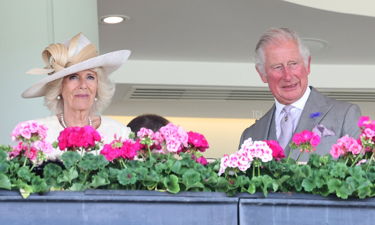 Camilla, Duchess of Cornwall and Prince Charles, Prince of Wales attend Royal Ascot 2021 at Ascot Racecourse on June 16, 2021 in Ascot, England