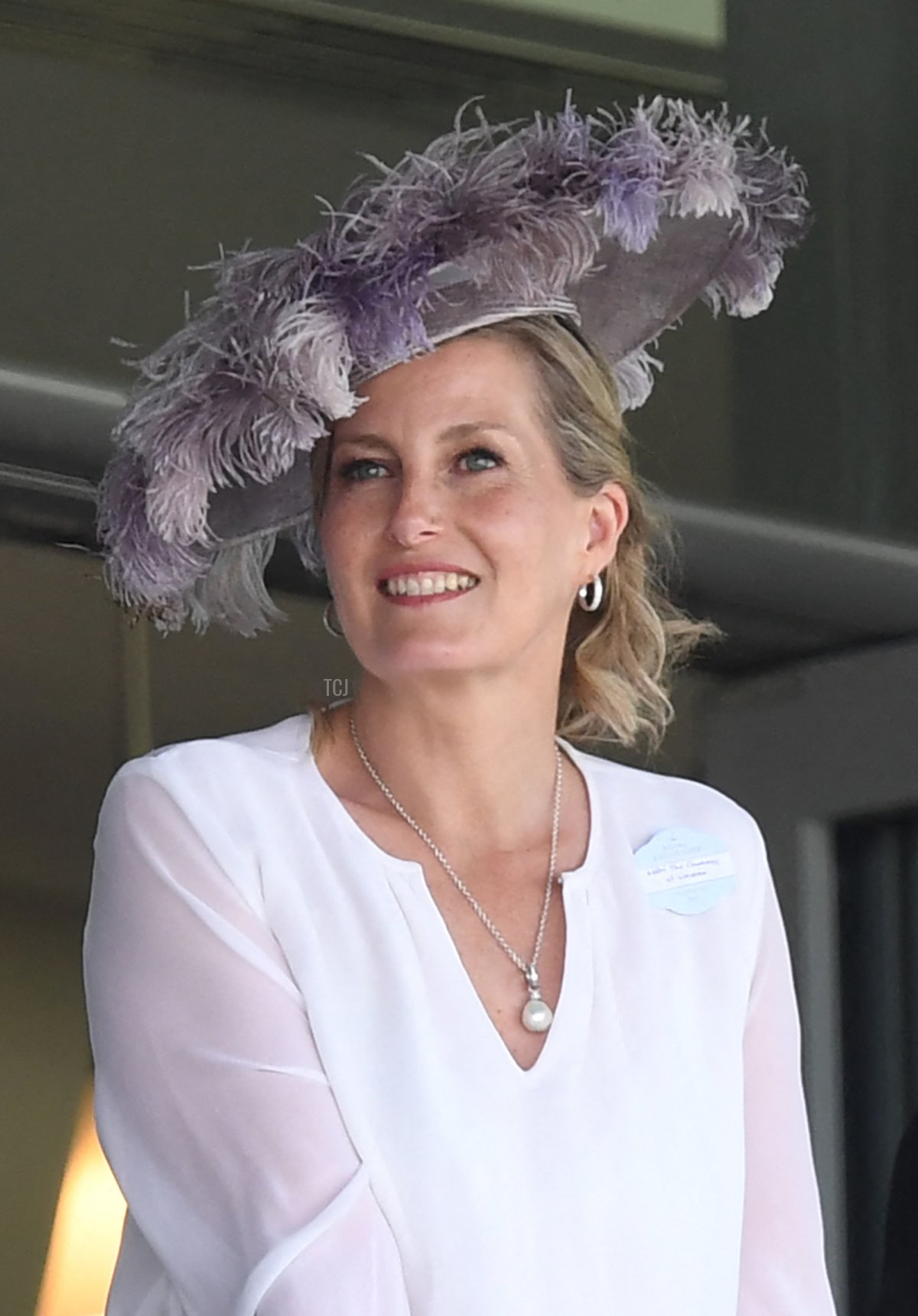 Britain's Sophie, Countess of Wessex (L) and Britain's Prince Edward, Earl of Wessex attend the second day of the Royal Ascot horse racing meet, in Ascot, west of London on June 16, 2021