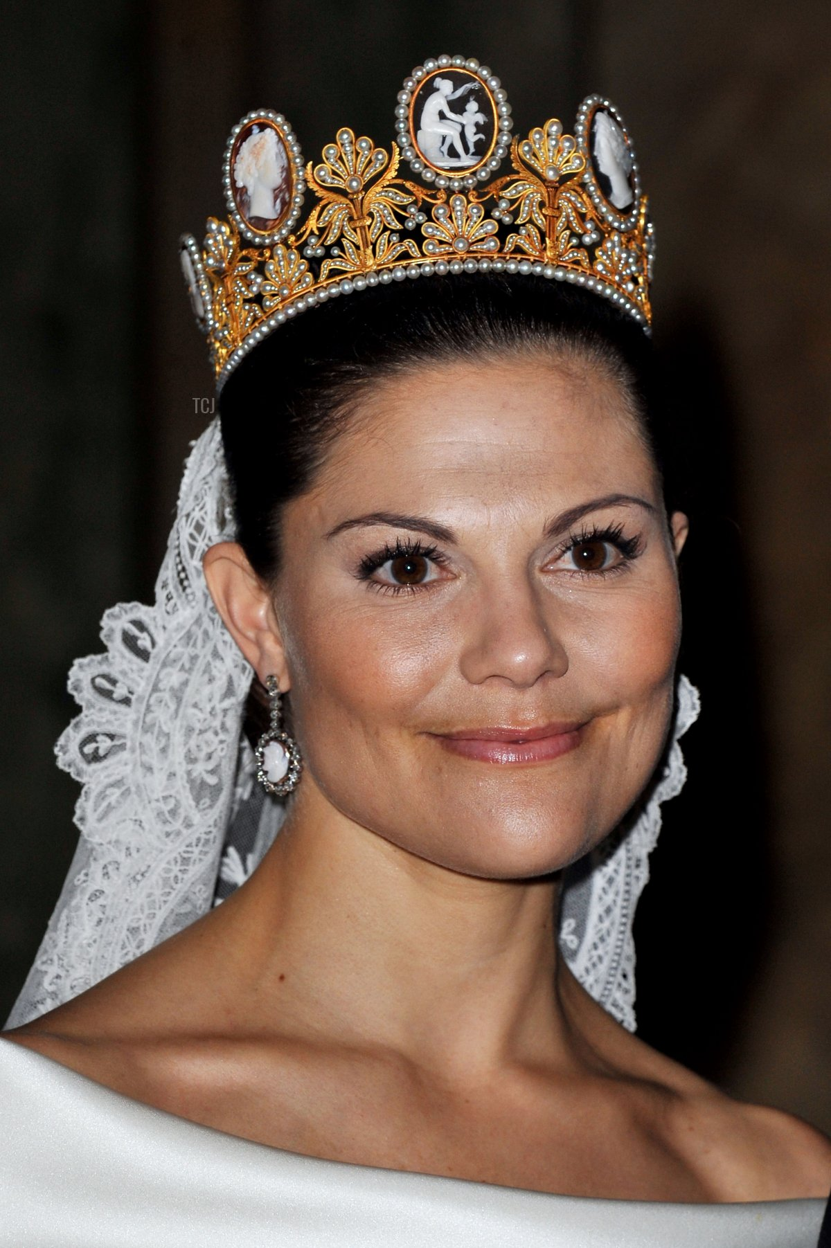 Crown Princess Victoria of Sweden attends her wedding banquet at the Royal Palace on June 19, 2010 in Stockholm, Sweden