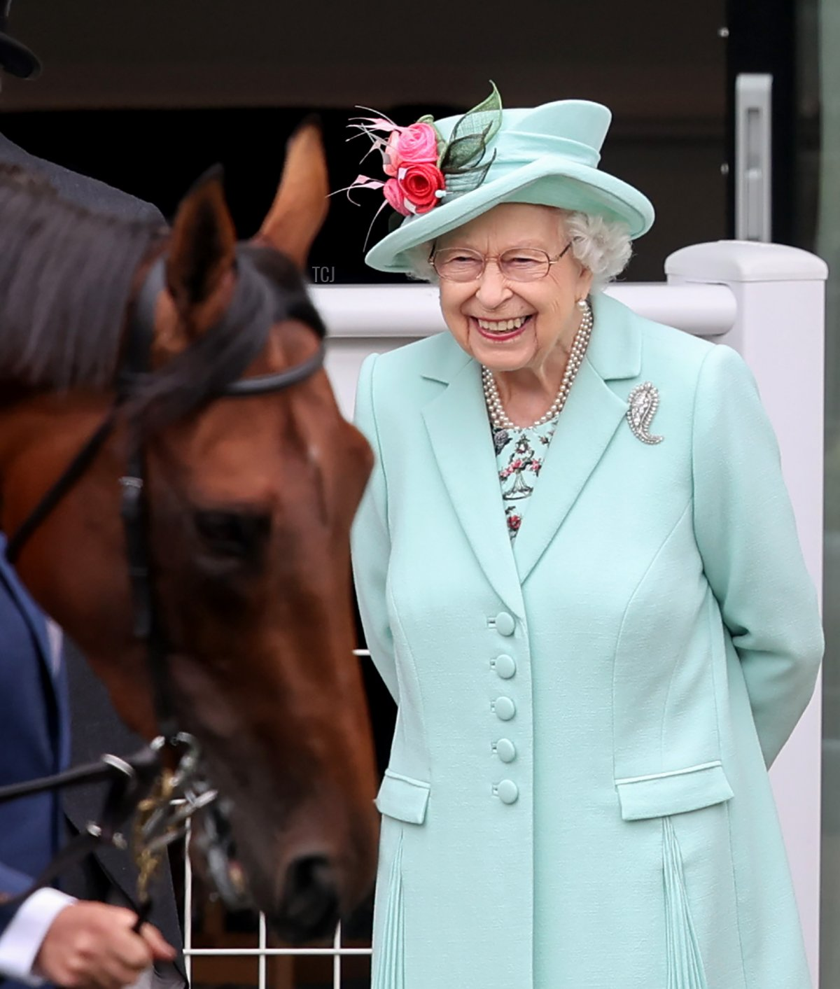 Queen Elizabeth II attends Royal Ascot 2021 at Ascot Racecourse on June 19, 2021 in Ascot, England