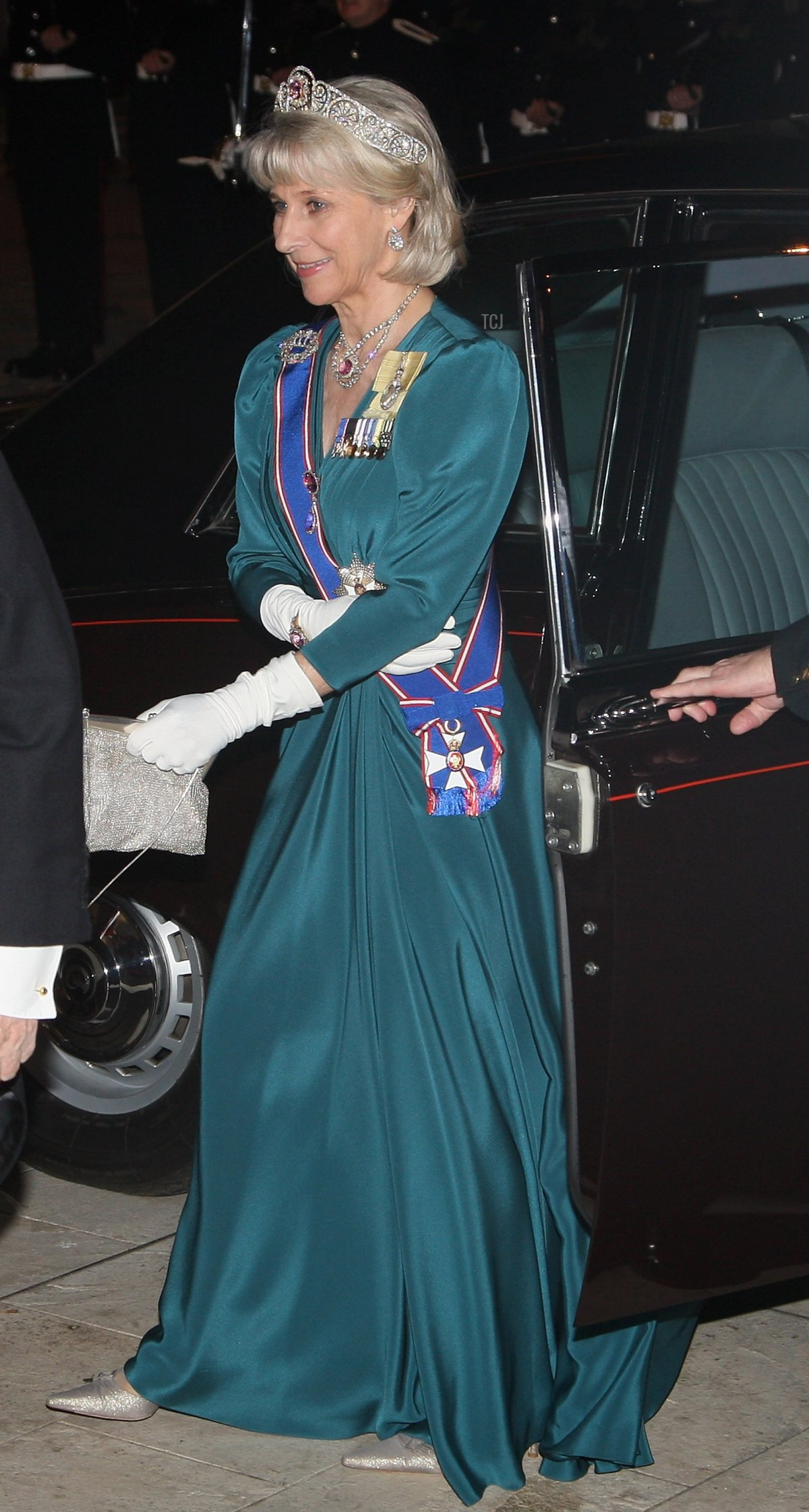 HRH the Duchess of Gloucester arrives at the Guildhall for a banquet on the second official day of the President of India's State Visit on October 27, 2009 in London, England