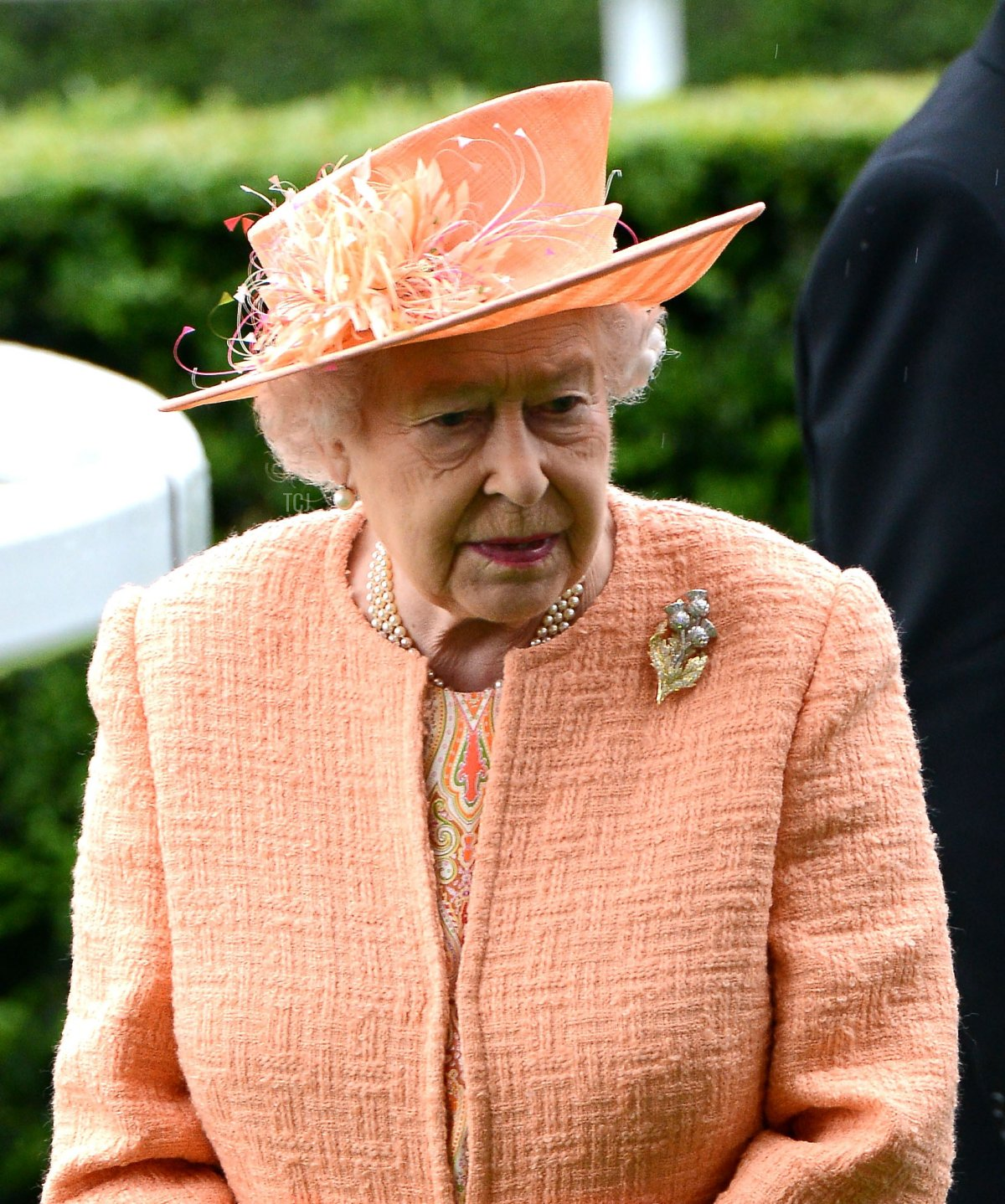 Queen Elizabeth II during the Royal Procession on day 5 of Royal Ascot 2015 at Ascot racecourse on June 20, 2015 in Ascot, England