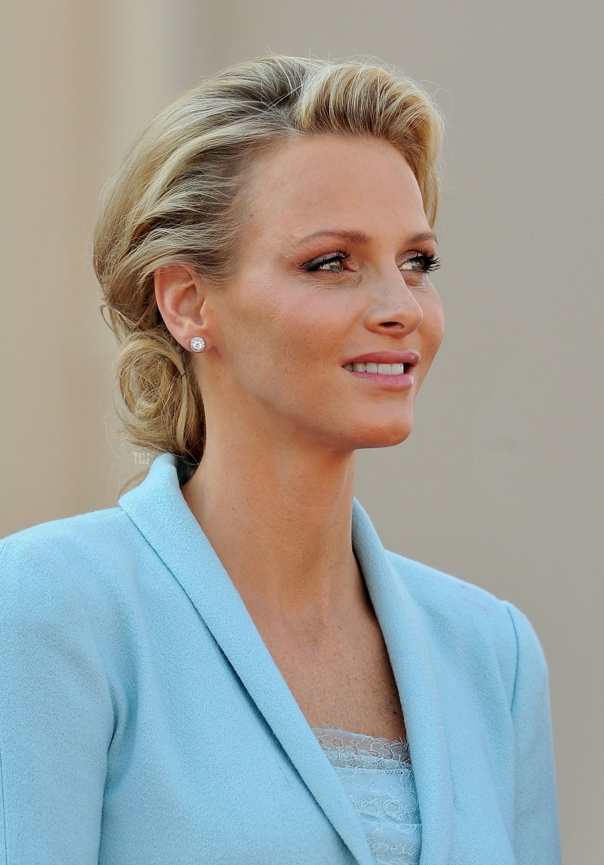 Princess Charlene of Monaco looks on after the civil ceremony of the Royal Wedding of Prince Albert II of Monaco to Charlene Wittstock at the Prince's Palace on July 1, 2011 in Monaco