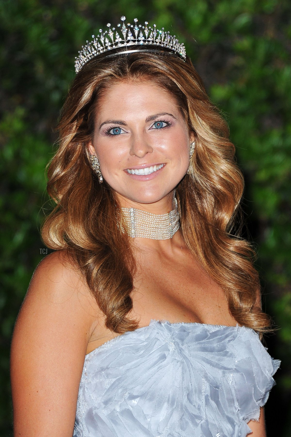 Princess Madeleine of Sweden attends a dinner at Opera terraces after the religious wedding ceremony of Prince Albert II of Monaco and Princess Charlene of Monaco on July 2, 2011 in Monaco