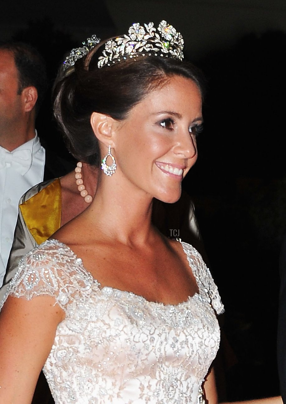 Princess Marie of Denmark attends a dinner at Opera terraces after the religious wedding ceremony of Prince Albert II of Monaco and Princess Charlene of Monaco on July 2, 2011 in Monaco