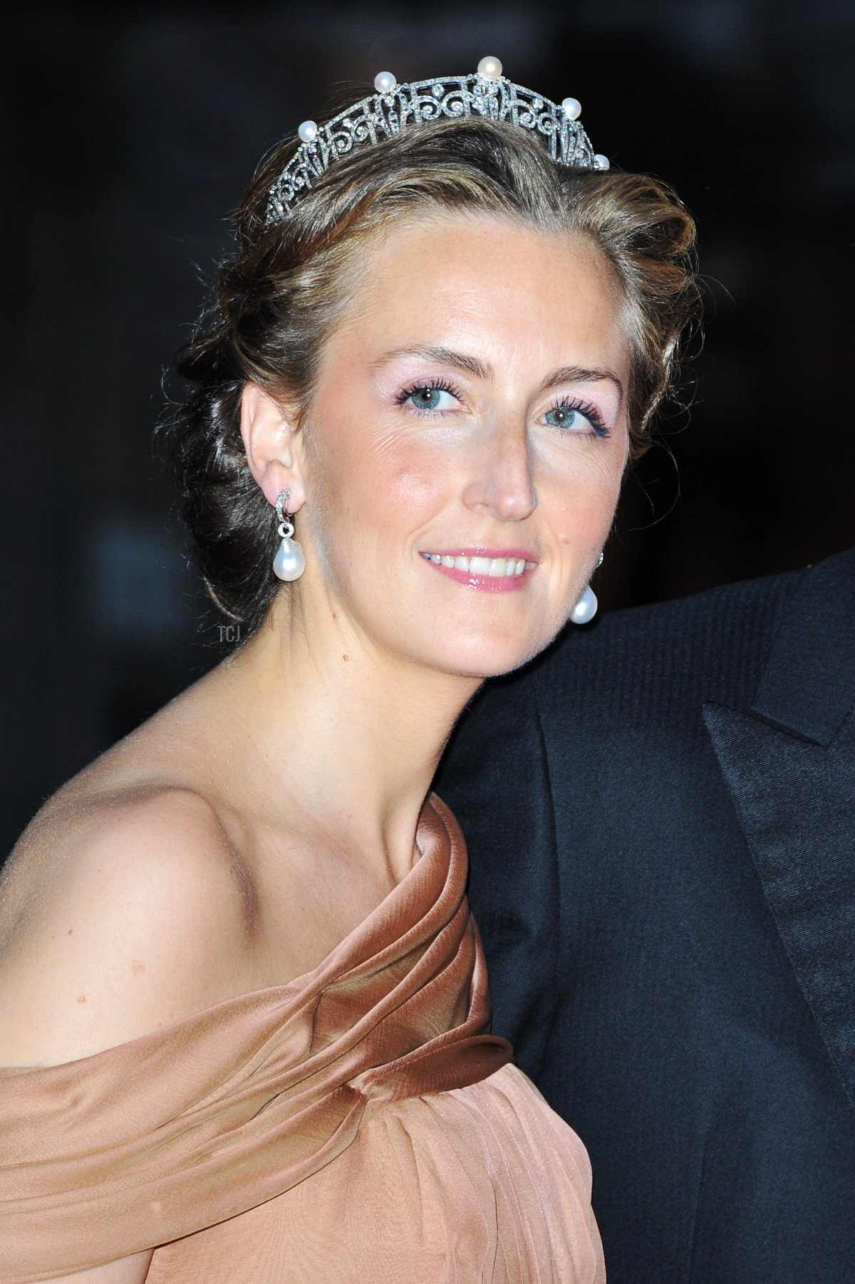 Princess Claire of Belgium attends a dinner at Opera terraces after the religious wedding ceremony on July 2, 2011 in Monaco