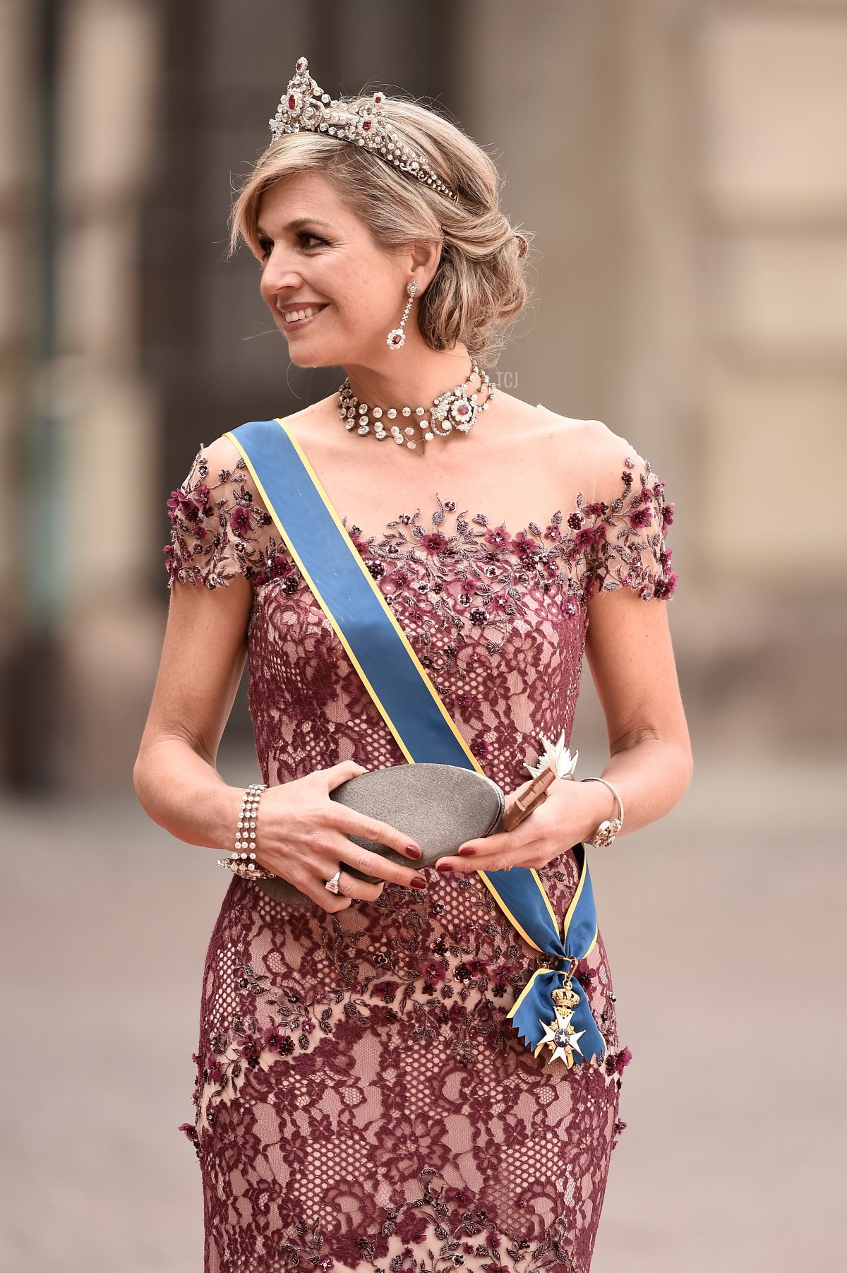 Queen Maxima of the Netherlands attends the royal wedding of Prince Carl Philip of Sweden and Sofia Hellqvist at The Royal Palace on June 13, 2015 in Stockholm, Sweden