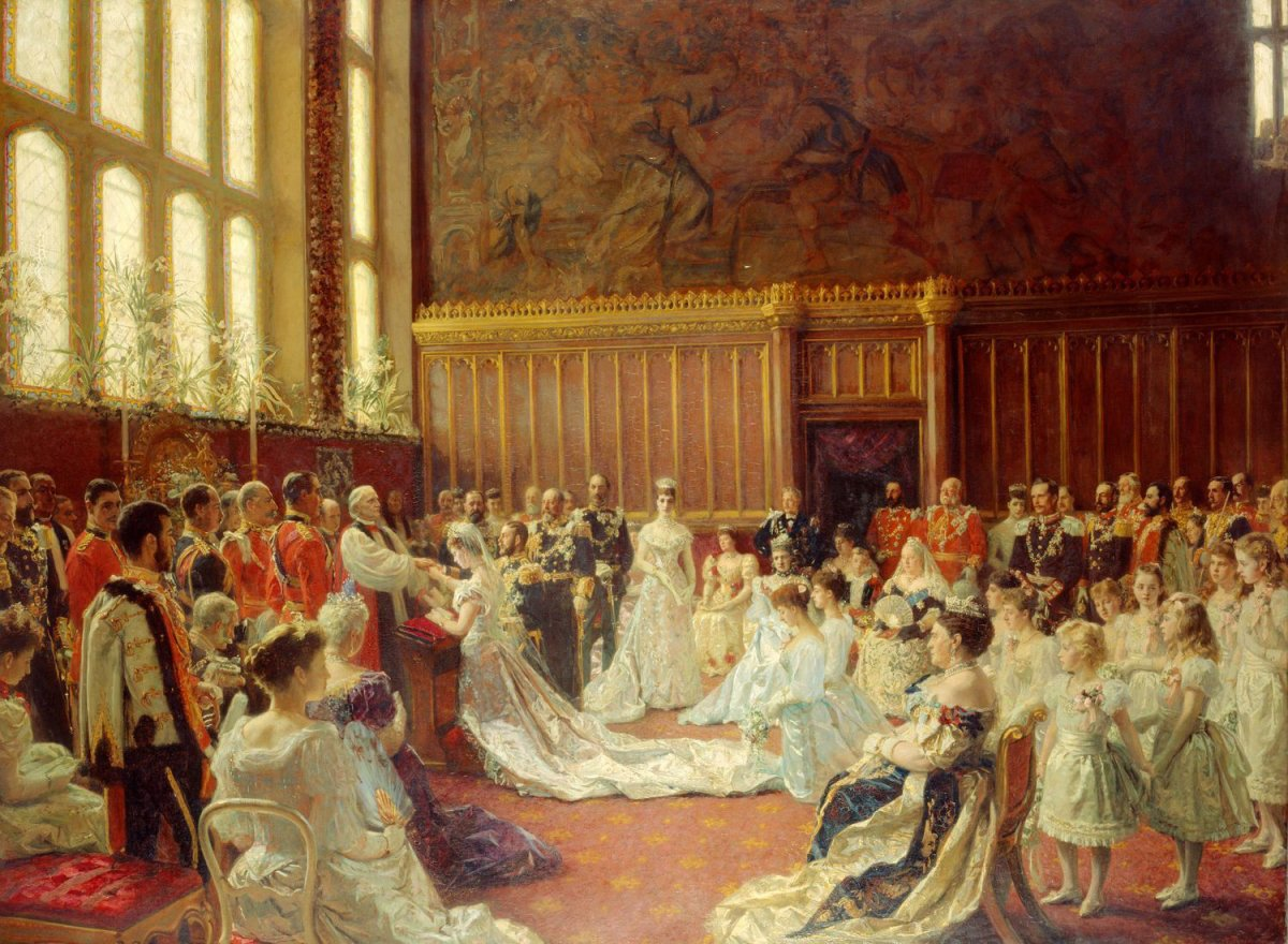 The Marriage of Their Royal Highnesses the Duke and Duchess of York, Chapel Royal St James's, 6 July 1893, Laurits Tuxen