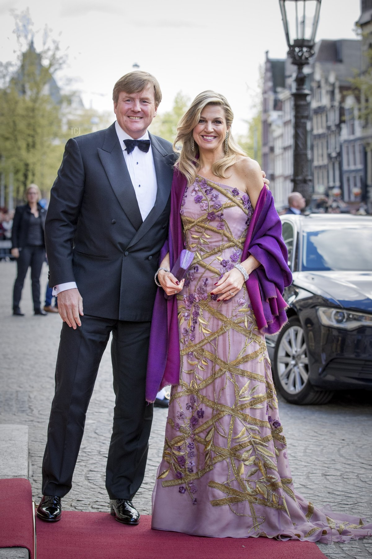King Willem-Alexander and Queen Maxima of The Netherlands host a dinner for 150 Dutch people to celebrate his 50th birthday in the Royal Palace on April 28, 2017 in Amsterdam, Netherlands